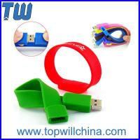 Quality Colorful Easy to Carry Silicon Wristband Thumb Drives 2GB 4GB for Gifts with Logo Printing for sale