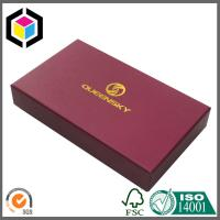 China Matte Red Color Paper Gift Box for Wallet; Gold Foil Logo Rigid Paper Box on sale