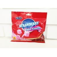 Quality 2.75g Cube Shape Strawberry Flavor Milk Candy In Bag Healthy And Yummy for sale