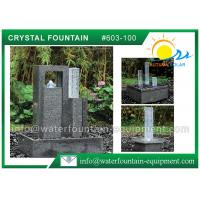 Quality Decoration Feng Shui Garden Fountain Granite Sculpture With Glass Column for sale
