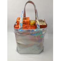 Buy Fashionable Silver Holographic Bag , Laser PU Hologram Shopper Bag Special Design at wholesale prices