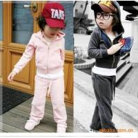 China Best selling 2014 new design fashion baby dress velvet two-piece suit clothes wholesale clothing new york on sale