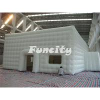 China Mobile Building Inflatable Cube Tent with Door and Window on sale