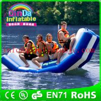 Quality Inflatable floating water seesaw pool seesaw for toddlers inflatable floating water game for sale