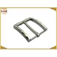 Quality Metal Zinc Alloy Pin Belt Buckle With Clips Nickel Color With 40 MM for sale