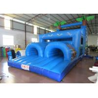 Quality Inflatable Outdoor Obstacle Course Bounce House , Blow Up Obstacle Course 12 X 4 X 5m for sale