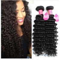 Quality Long Lasting Brazilian Deep Wave Human Hair , 8A Brazilian Virgin Hair for sale