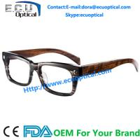 China Mainland Acetate Eyewear Wooden Optical Glass Frame Custom made protective innovative for sale