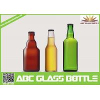 Quality Different design 330ml -750ml Round Amber Glass Beer Bottle for sale