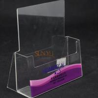 Buy Single Layer Clear Acrylic Brochure Holder at wholesale prices