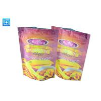 Quality Colored Zip Lock Bags For Chips / Flat Bottom Stand Up Foil Pouches With Zipper for sale