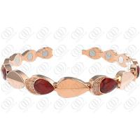 China Muses Eye 316l Stainless Steel Bracelets With Water Drop Crystal on sale