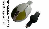 China Wireless Optical Mouse with USB Receiver Plugged Into for sale