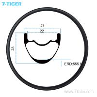Quality 7-tiger carbon mountain bicycle wheel rim 27.5 er carbon racing bike brompton XC bike 23 x 27  holes Tubeless Compatible for sale