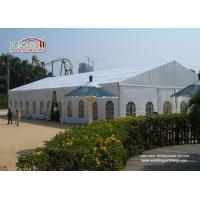 White 2Nd Hand Clear Span Marquee , Outside Storage Tents 500 People
