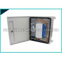 Quality 24 Capacity Fiber Optic Distribution Box Outdoor Filleted Corner FC / SC Adapters for sale