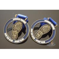 Quality Zinc Alloy Cut Out Sports Metal Medal / Personalised Running Medals for sale