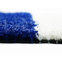 Quality 20mm Fitness Facilities Gym Artificial Turf For Sled Training Blue And White for sale
