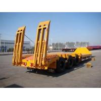China 3 axles low load semi trailer ,60Ton 3 axles truck bed trailer sale on sale