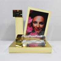 Quality LED Acrylic Perfume Retail POS Displays With Gold Magnetic Levitation for sale