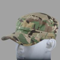 Quality 3D Embroidery Flat Top Army Cap Military Peaked Hat Strap Closure For Men / Women for sale