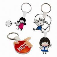 Quality Keytags, Measures 5 x 5cm, with Laser Cut and CMYK Printing, Made of 3mm White Acrylic for sale