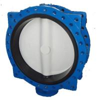 Quality hand lever operated double half shaft without pin wafer butterfly valve for sale