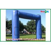Quality Blue Huge Inflatable Archway Oxford Fabric Commercial Inflatable Structure for sale