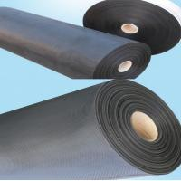 Quality Epoxy Coated Woven Wire Cloth Abrasion Resistance , Black Light Weight Expanded Steel Mesh for sale
