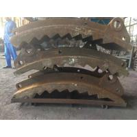 Quality GX140MnCr 14-2 Wear-resistant Castings , Grinding Path Impact Plate Schist Iron Ore Crusher for sale