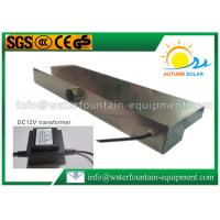 Buy Stainless Steel Waterfall Water Fountain Equipment With DC 12V Colorful LED at wholesale prices