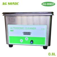 Quality 800ML Stainless Steel Industrial Ultrasonic Cleaner Bath Digital Ultrasound Wave Cleaning Tank for sale