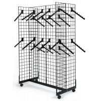 Quality Commercial Retail Display Racks Gridwall Fixtures With Wheels 7 Ball Waterfall Hooks for sale