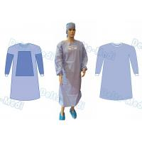 China AAMI Level 4 Disposable Doctor Gowns , Disposable Theatre Gowns With 4 Waist Belts on sale