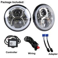 Buy cheap 7 Inch 9-30V DC Round LED Vehicle Fog Light For Jeep RGB Halo Ring Bluetooth from wholesalers