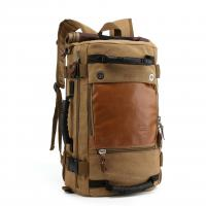 Buy Black Teenagers Canvas 40l Travel Backpack Vintage Style , Waterproof Travel Bag at wholesale prices