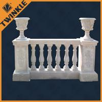 Quality Interior stone flooring green marble balustrade natural custom for stairs for sale