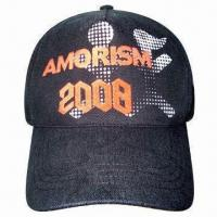 Buy Promotional Baseball Cap, Made of Cotton, Customized Logos are Welcome at wholesale prices