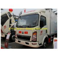 Quality HOWO small refrigerated box trucks 4X2 for fresh food transport for sale