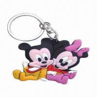 Quality Name Keychains, Made of PVC or Silicone, Custom Design with Logos, Best for Promotion Gifts for sale