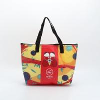 Customized Non - Woven Laminated Tote Bags Pouch Beach Bag With Zipper for sale