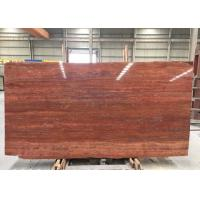 Red Travertine Natural Stone Tiles Countertop Use 20mm Big  Slabs Type for sale