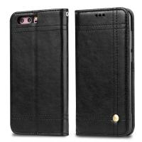 Quality Huawei Honor 9 Magnetic Leather Case Black Book Style Two Card Slot 68.9g for sale