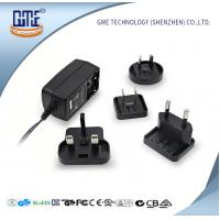 Buy cheap US AU UK EU Interchangeable plug Wall Mounted 24W AC DC Power Adapter With LED Light from wholesalers