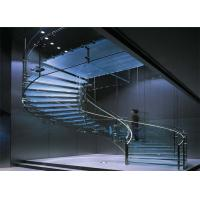 Quality High quality fancy staircase glass railing designs  arc staircase for sale