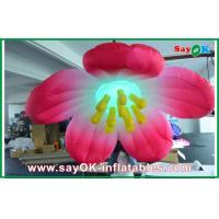 Quality 1.5m Diameter Inflatable Lighting Decoration Flower / inflatable Flower Lighting for sale