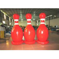 Quality Large Sealed Inflatable Water Games Giant Inflatable Bowling Set 2.2mh 0.65mm PVC for sale
