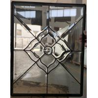Quality Patina and brass came decorative glass for wooden door 25.4MM thickness for sale
