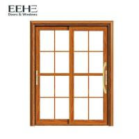 Quality Waterproof Champagne Aluminium Sliding Patio Doors With Flexibility Frame 1.1mm for sale
