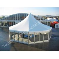 Buy cheap Octagonal Outdoor canopy Pagoda Wedding Marquee tent Transparent Glass Wall and Door from wholesalers